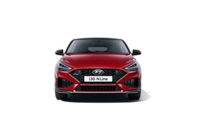 The new Hyundai i30 Fastback N Line pictured from the front.